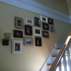 My project is finally done! Family pics on the stair case!