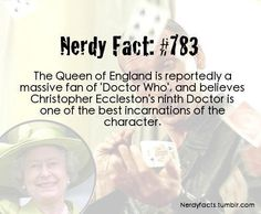 Even the Queens a Whovian!