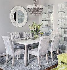Krzesło tapicerowane pikowane styl glamour chesterfield classic do jadalni salonu JULIETTE