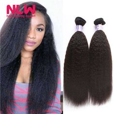 Buy Drop Free Ship 8A Brazilian Virgin Hair 5 Bundles Kinky Straight Hair Weave Sew In Style Remy Human Hair Bundles Bouncy Thick from Reliable weave remy hair suppliers on NLWHair Store