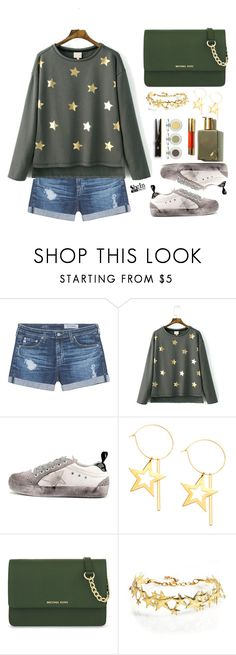"""""""Shine like a star"""" by simona-altobelli ❤ liked on Polyvore featuring AG Adriano Goldschmied, WithChic, MICHAEL Michael Kors and Laundry"""