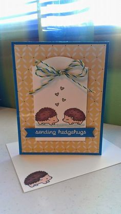 My Stampin' Grounds...: Sending Hedgehugs, Lawn Fawn.
