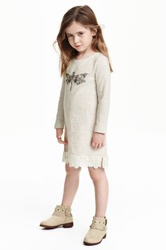 Robe en jersey avec dentelle | H&M