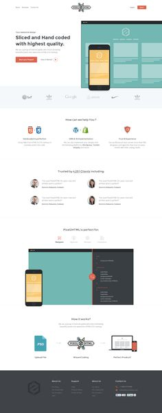 Landing page, bright, minimalistic, illustration, clear, typographic