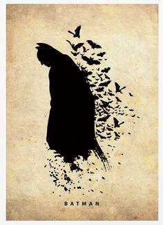 Spiderman, Batman, Incredible Hulk and Captain America Superheroes Poster Set
