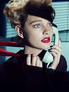Mysterious Hitchcock-Inspired Shoots - This Vogue Japan September 2013 Editorial is 1950s Retro (GALLERY)