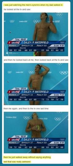 Tom Daley. I noticed how awkward it looked during the olympics!