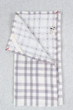 Checks & Dots Tea Towel in Grey