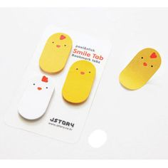 Smile sticky memo notes bookmark tabs - chick by JSTORY. Put the sticky memo inside book to use as a bookmark.
