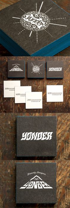 Bespoke Typography On A Black And White Edge Painted Letterpress Business Card