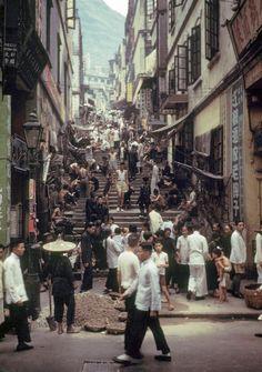 Hong Kong street, 1950's by Fan Ho