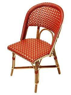 Woven Cane French Cafe Chairs For My Outdoor Setting