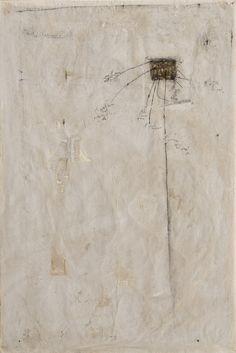 Magdalo Mussio,  Senza titolo (La parola senza la parola), 1990 circa Tecnica mista su carta 149 x 99 cm