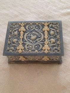 BEAUTIFUL GENUINE INCOLAY STONE JEWLERY BOX