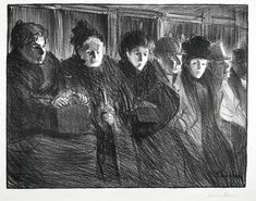 Interior of Tramway | From a unique collection of figurative prints at https://1stdibs.com/art/prints-works-on-paper/figurative-prints-works-on-paper/