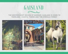 The western region of Sandair and home to the largest forests. We explore Gaisland in book two of Sand Dancer!