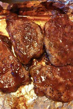 Pork Chop Recipes, Grilling Recipes, Meat Recipes, Cooking Recipes, Pork Meals, Cajun Recipes, Marinated Baked Pork Chops, Dinner Dishes, Bon Appetit