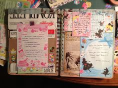 Junk journal. Wait not junk. Swap-bot journal by manders2280, via Flickr