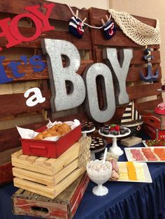 Nautical Baby Shower Party Ideas   Photo 1 of 8   Catch My Party