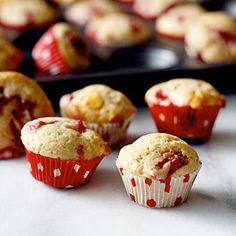 Strawberry White Chocolate Mini Muffins