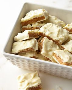 Rich buttery toffee made with real butter and roasted cashews. Blanketed in an all-natural white chocolate. 16 oz. net wt. Serves about 12. Made in the USA.