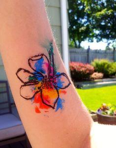 nice Watercolor tattoo - 14 Medium-Size Watercolor Tattoo Designs – Top Famous Pretty Fashion Style
