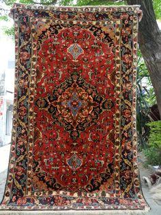 Rare Afghan Herati Wool Rug from Yamood Turkmen Carpets by DaWanda.com