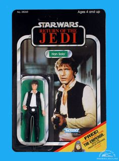 Kenner 65 Back C Return Of The Jedi Carded Figure with New Image Star Wars Set, Star Wars Toys, Childhood Toys, Childhood Memories, Vintage Packaging, Toy Packaging, Figuras Star Wars, Star Wars Merchandise, Star Wars Action Figures