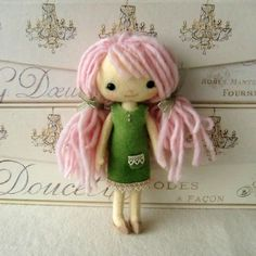 Pocket Pixies.  Really cute little dollies that once they have the pattern for sale