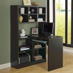 Monarch Reversible Corner Bookcase Desk $382.49
