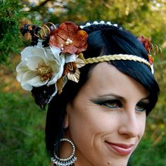 HECATE Flower Headdress. $60.00, via Etsy.