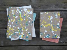 Make it: Paint Splatter Bookcover