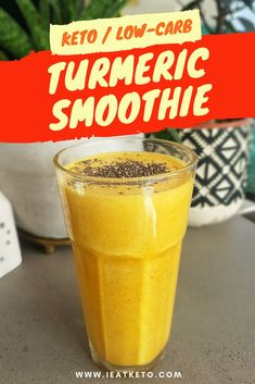 This turmeric keto smoothie is a delicious low carb, high fat beverage, with the added health benefits of turmeric. This makes a delicious keto breakfast smoothie without the heavy hit of carbs from most fruit smoothies. This is great made in a couple of Keto Breakfast Smoothie, Keto Smoothie Recipes, Low Carb Smoothies, Good Smoothies, Fruit Smoothies, Strawberry Smoothie, Nutribullet, Smoothies Verdes, Keto Diet Vegetables