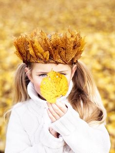 crown of leaves. This could be fun for Lughnasadh or Autumn Equinox.