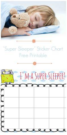 super sleeper free printable bedtime reward chart