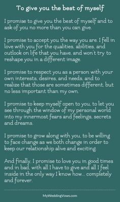 63 Trendy wedding quotes and sayings vows poem Best Wedding Vows, Order Of Wedding Ceremony, Wedding Vows To Husband, Wedding Poems, Wedding Ceremony Readings, Modern Wedding Vows, Wedding Blessing, Wedding Renewal Vows, Renewal Of Vows Ideas