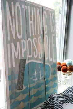 Nothing is Impossible Wooden Wall Sign by PrintedPalette on Etsy, $64.00