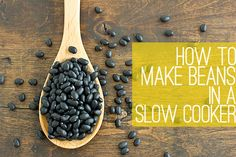 Dried Beans in a Slow Cooker. How to cook dried beans in a slow cooker (and freeze them for future use). A little more work but cheaper & tastier than using canned. Slow Cooker Beans, Crock Pot Slow Cooker, Slow Cooker Recipes, Crockpot Recipes, Cooking Recipes, Cooking Ideas, Freezer Cooking, Crock Pot Cooking, Bean Recipes
