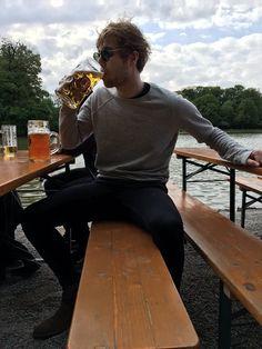 Luke having beer in Munich 05/15/16