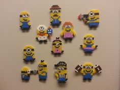 Small Perler Minion Bead