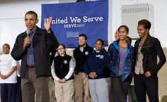 First and Second Families Participate in a National Day of Service