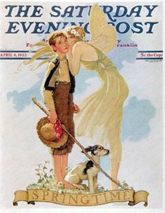 Norman Rockwell The Saturday Evening Post Springtime, 1933 April 8, 1933