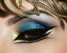 Resultado de imaxes para maquillaje egipto en mujeres