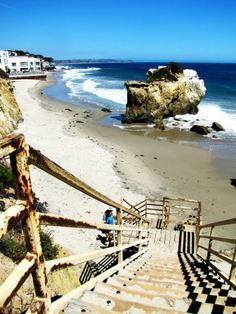 Stairs at El Matador State Beach, Malibu, Los Angeles, California California Vacation, California Dreamin', Los Angeles California, Pacific Coast Highway, Big Sur, Santa Monica, Newport Beach, Oh The Places You'll Go, Places To Visit