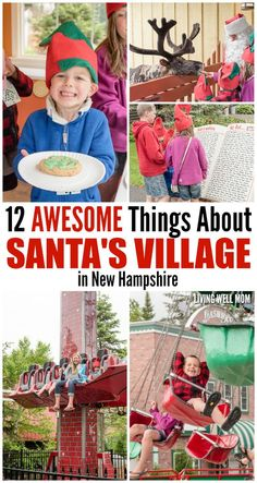 "Have you heard of Santa's Village before? It's a charming family theme park set in the beautiful mountains of Jefferson, New Hampshire. And you guessed it - Santa's Village is all about Christmas! Kids, young and old, will enjoy a wonderful day (or more) with ""rides and shows, cookies and elves, Santa and his reindeer!"""