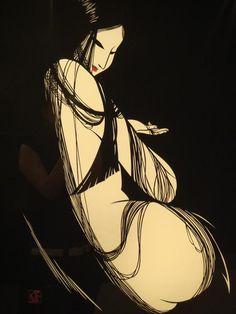 Paper cutout art by MIYATA Masayuki (1926~1997), Japan 宮田 雅之