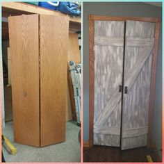 Upcycled bi-fold door
