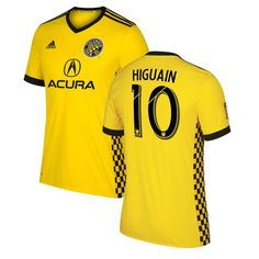 Federico Higuain Columbus Crew SC adidas Youth 2017 Primary Replica Jersey - Yellow