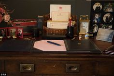 Sneaky peek: From tomorrow, visitors to Buckingham Palace's summer opening will find one room containing a replica of the late Princess's study, her desk laid out as her sons remember it