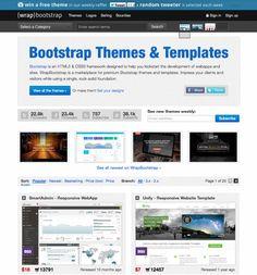 http://www.shutterstock.com - templates de sites para download (pago) que usam bootstrap